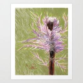 The Thistle Ballerina Art Print