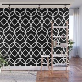 Grey Black White Geometric Shapes Diamond 1 Wall Mural
