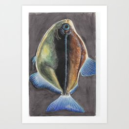 Ugly Fish Art Print