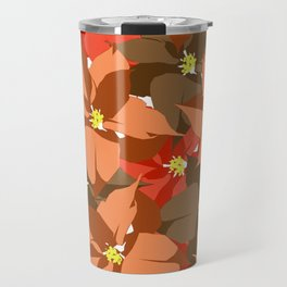 Poinsettia Love Travel Mug