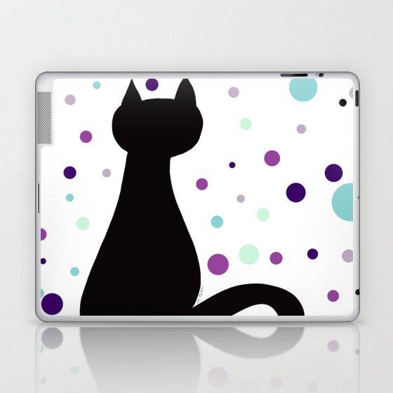 Black Cat Party! Laptop & iPad Skin