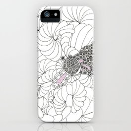 FRACTAL FROG ON THE UNIVERSES LILLY PADS! iPhone Case