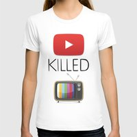 youtube T-shirts featuring YouTube Killed the TV by LifeQuotes