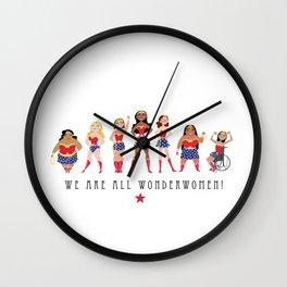 We Are All Wonderwomen! Wall Clock
