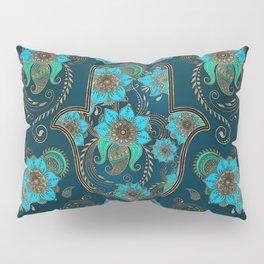 Hamsa Hand -Hand of Fatima Floral Ornament Pillow Sham
