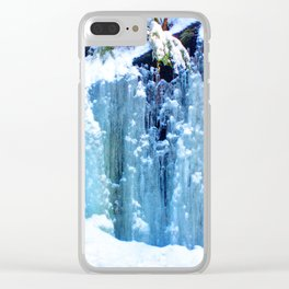 Blue Icefall Clear iPhone Case