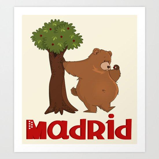 MADRID: Bear and Madrono (v.2) Art Print