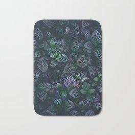 Purple and Green Plants (Color) Bath Mat