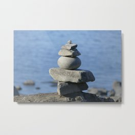 Stone on stone,  tranquility Metal Print