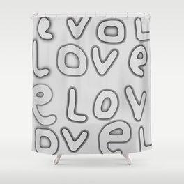 Love pattern 7 Shower Curtain