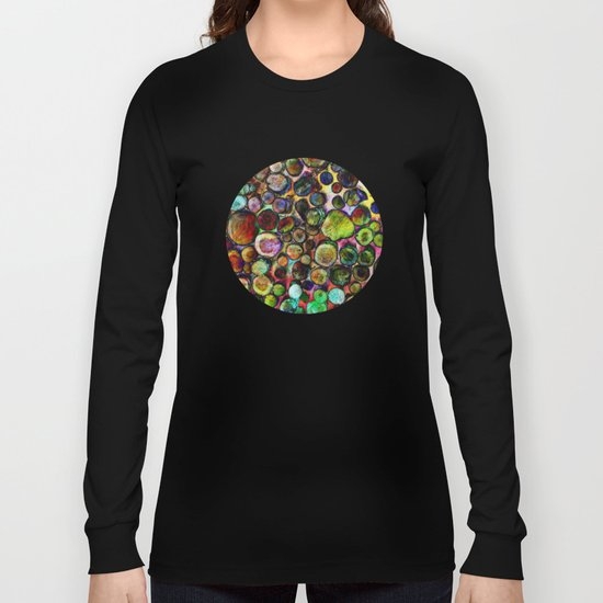 Colored Wood Pile 2 Long Sleeve T-shirt