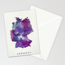 Germany Map Stationery Cards