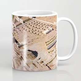 """Classical Masterpiece """"Egyptian Pylon Temple of Thebes"""" by Herbert Herget Coffee Mug"""