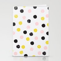 polka dot Stationery Cards featuring Polka Dot  by Naomi Hadfield