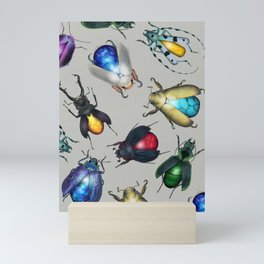 Colorful Mineral Beetles Mini Art Print