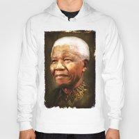 mandela Hoodies featuring Mandela by Kimberley Britt