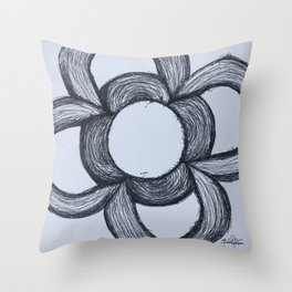 Flor de Barcelona Throw Pillow