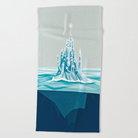 Iceberg castle Beach Towel