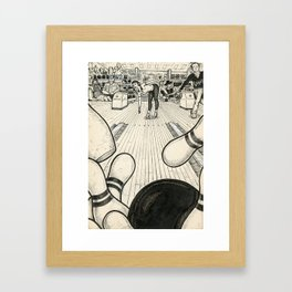 Bowling Framed Art Print