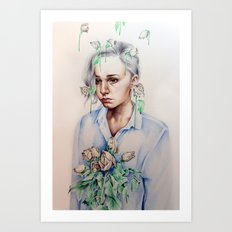 In Gloom/In Bloom Art Print
