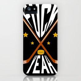 Hockey Ice Hockey Gift Ice Hockey Puck iPhone Case