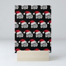 Tiger Santas in Black Mini Art Print
