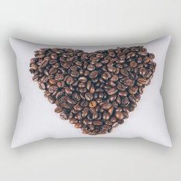 Heart of coffee beans Rectangular Pillow