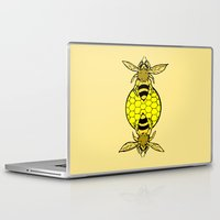 bees Laptop & iPad Skins featuring Bees by Chelsey Hamilton