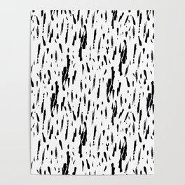 Seattle Rain Black Ink on White Poster