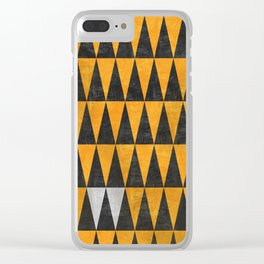 Triangles - White Clear iPhone Case