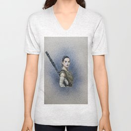 Rey (Starwars Episode VII) Unisex V-Neck