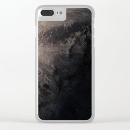 Planet or satellite in space. Clear iPhone Case