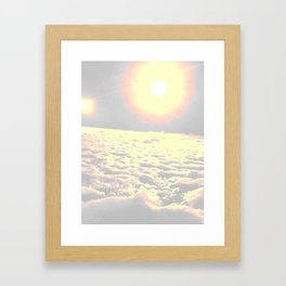 sun it rises Framed Art Print