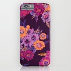 Floral in purple tones iPhone 6s Slim Case