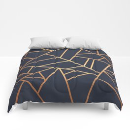 Copper and Midnight Navy Comforters