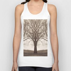 The Mirrored Trees Unisex Tank Top