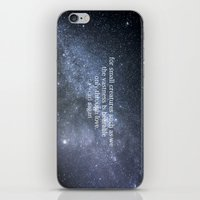 carl sagan iPhone & iPod Skins featuring Carl Sagan and the Milky Way by Astrophotos by McLeod