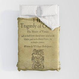 Shakespeare. Othello, 1622. Duvet Cover