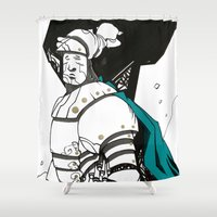 knight Shower Curtains featuring Knight  by JoaQuim