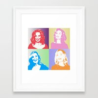 jessica lange Framed Art Prints featuring Jessica Lange - Her smile is everything by BeeJL