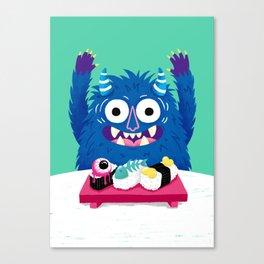 I Heart Sushi Canvas Print