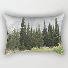 Grand Teton National Park Wildflower Adventure - Wanderlust Mountains Rectangular Pillow