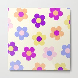 Flower Power Design Metal Print