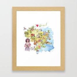 Brasil Map Framed Art Print