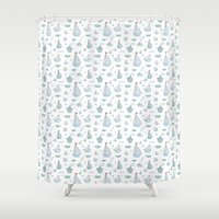 ships Shower Curtains featuring ships by Dlinnaya