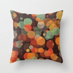 Colorful Bubbles 3 Throw Pillow