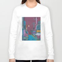 seoul Long Sleeve T-shirts featuring Seoul City #2 by Rob McClelland