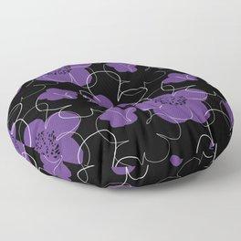 Purple Blooms Floor Pillow