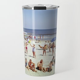 1960's Wildwood NJ Beach, Travel Mug