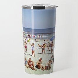 1960's Wildwood NJ Beach, Travel Mug